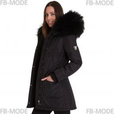 ALASKA Ventiuno women's down jacket long 3/4 with genuine hood collar fur