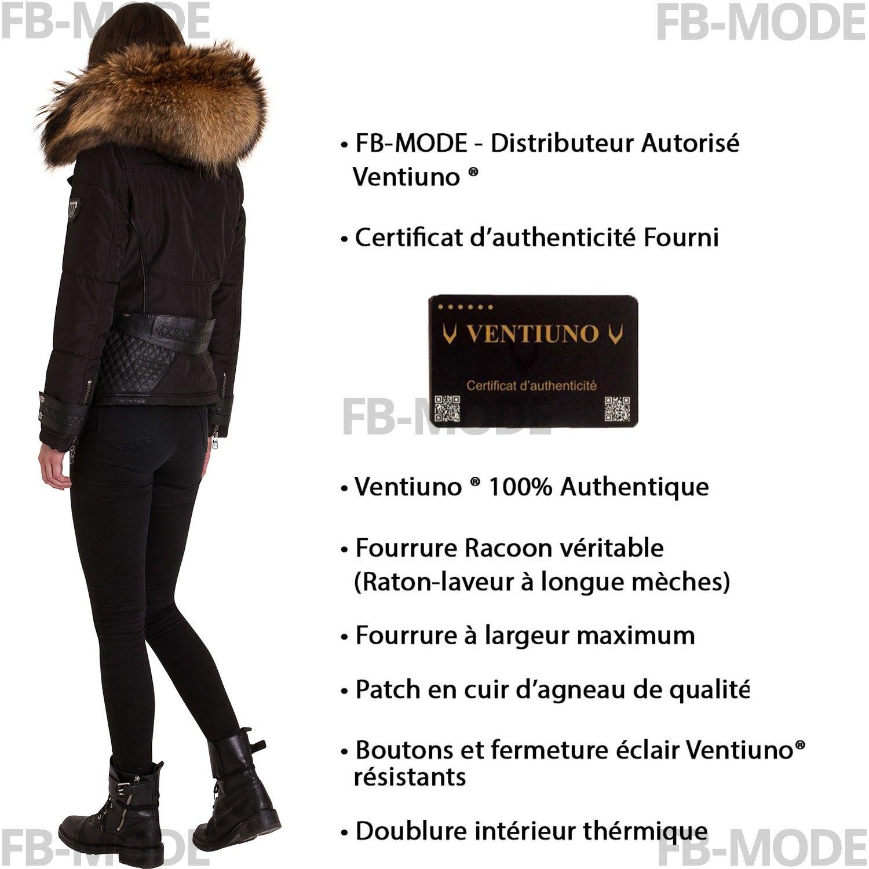 2979e55dcc Et Emily Bi Ventiuno Noir Cuir Femme Doudoune D'agneau Matire zOfxzqTpw