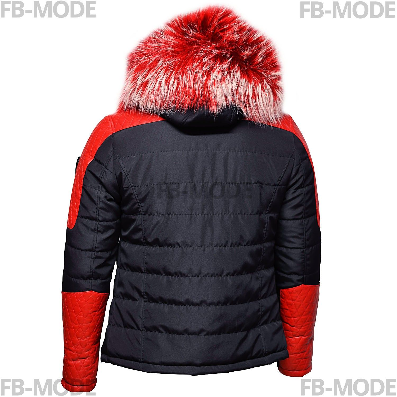 b9706bbca500f Rouge D agneau Modena Bi Ventiuno Et Doudoune Homme Matière Cuir W0S0r