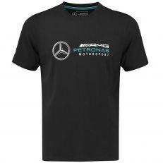 Mercedes AMG ® F1 T-shirt classique noir MAMGP-141181012 - Distributeur approuvé - Licence Mercedes AMG Officielle