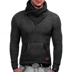 Indicode Pull homme Dane col haut hiver