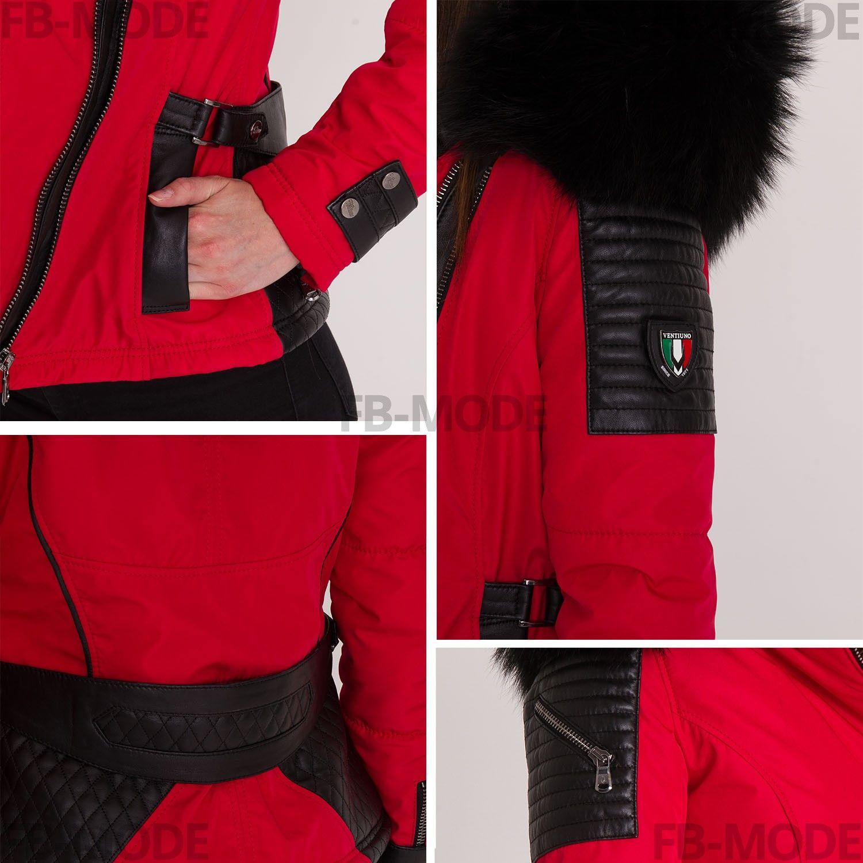 doudoune bellucci rouge noir femme