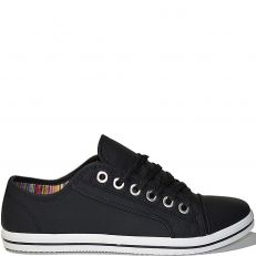 Baskets basse casual noir modele Zach