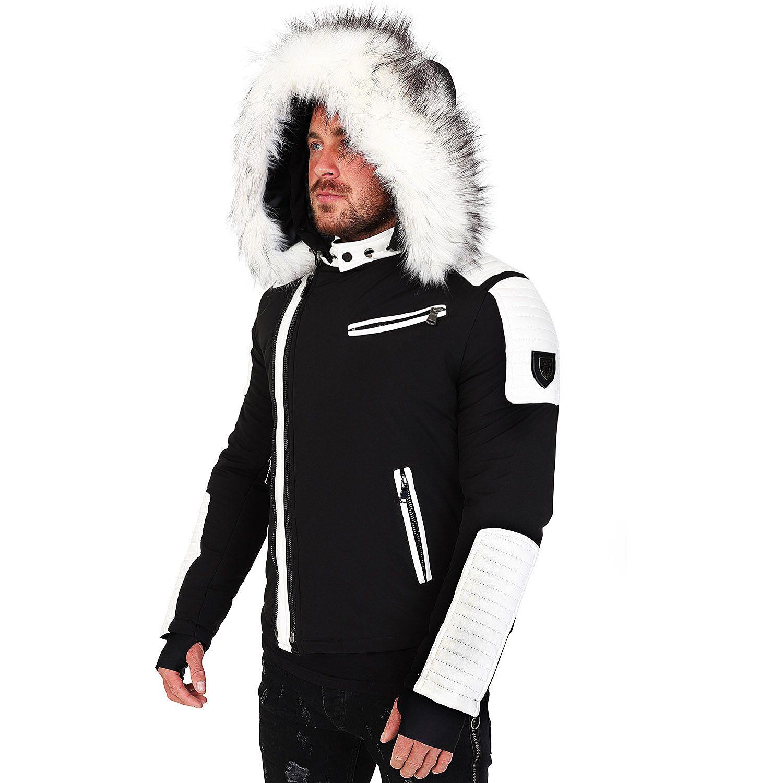 Col Homme Blanc Doudoune Hiver Alpha Matière Veste Bi 27z Avec fczOqWW5w