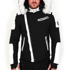 Veste doudoune homme hiver ALPHA-27Z  Bi-matière blanc - avec col mega fourrure inclus blanc