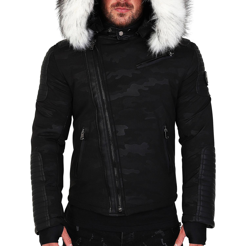 Veste doudoune homme hiver ALPHA 25Z Bi matière noir avec