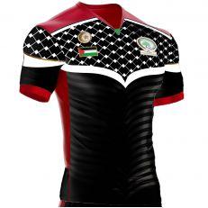 Maillot football Palestine ZX-851 avec logo brodé Flocage arrière 11 lune et etoile qualité Premium - Nouveau model