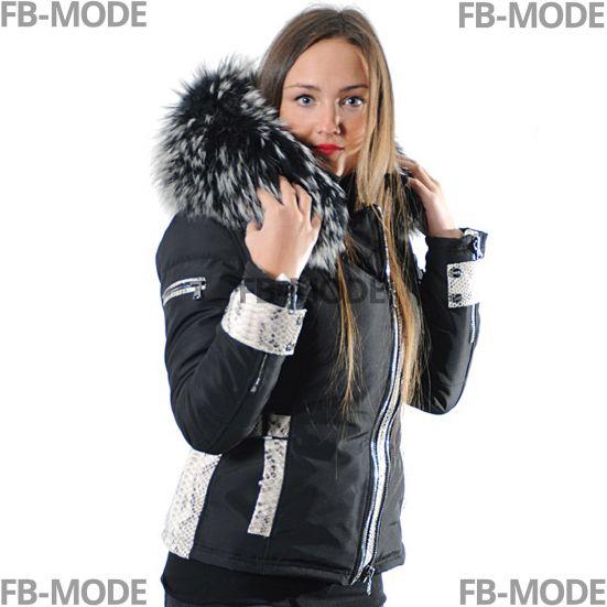 online retailer ab981 f7bba EMILY - SOFIA Ventiuno Damen Daunenjacke mit Lammleder-Patches und  Kapuzekragen aus echtem Pelz
