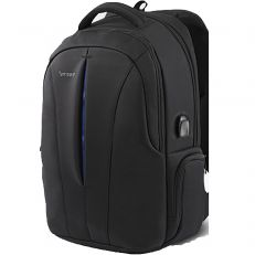 Sac à dos Voldak ZX-14 d'ordinateur portable à code, batterie externe, cadenas, cable antivol inclut grand volume