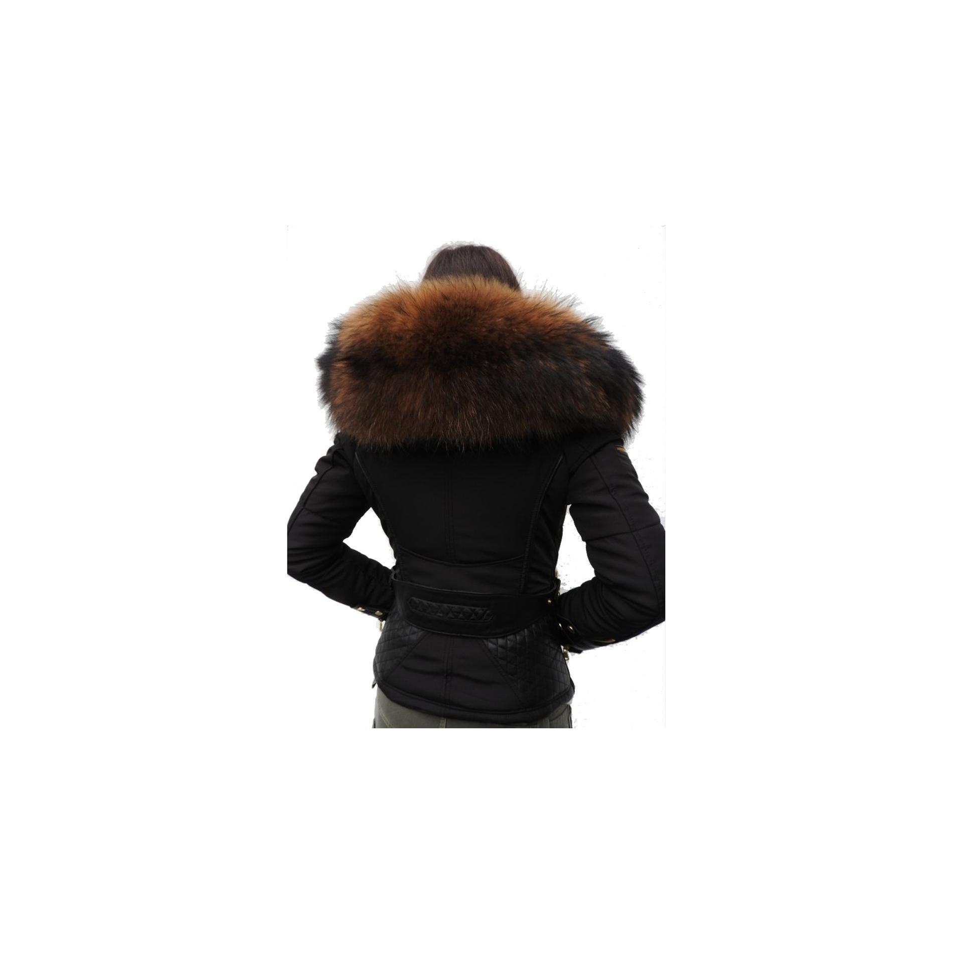 ventiuno veste perfecto emily noir bi mati re fourrure. Black Bedroom Furniture Sets. Home Design Ideas