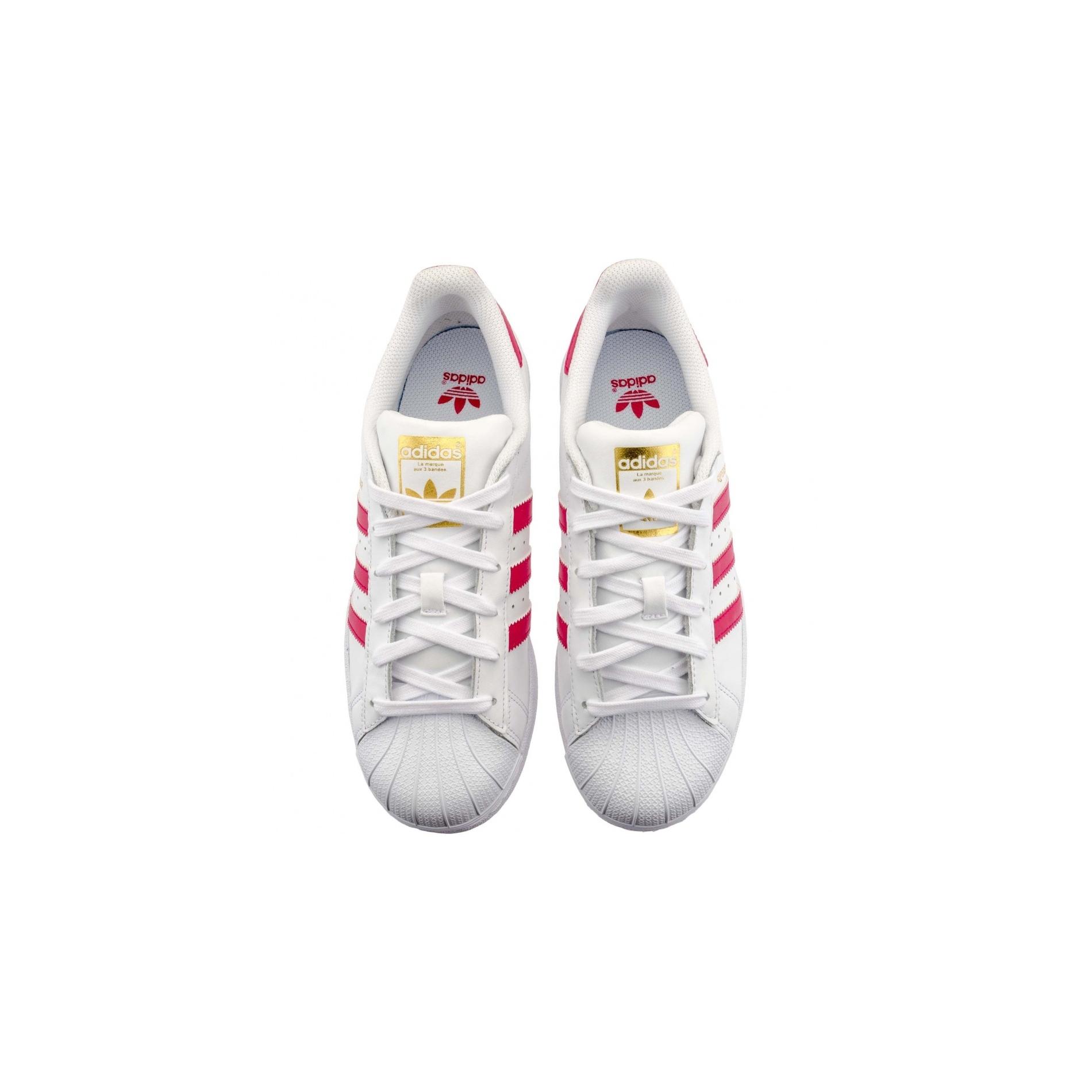 adidas originals superstar blanc rose femme