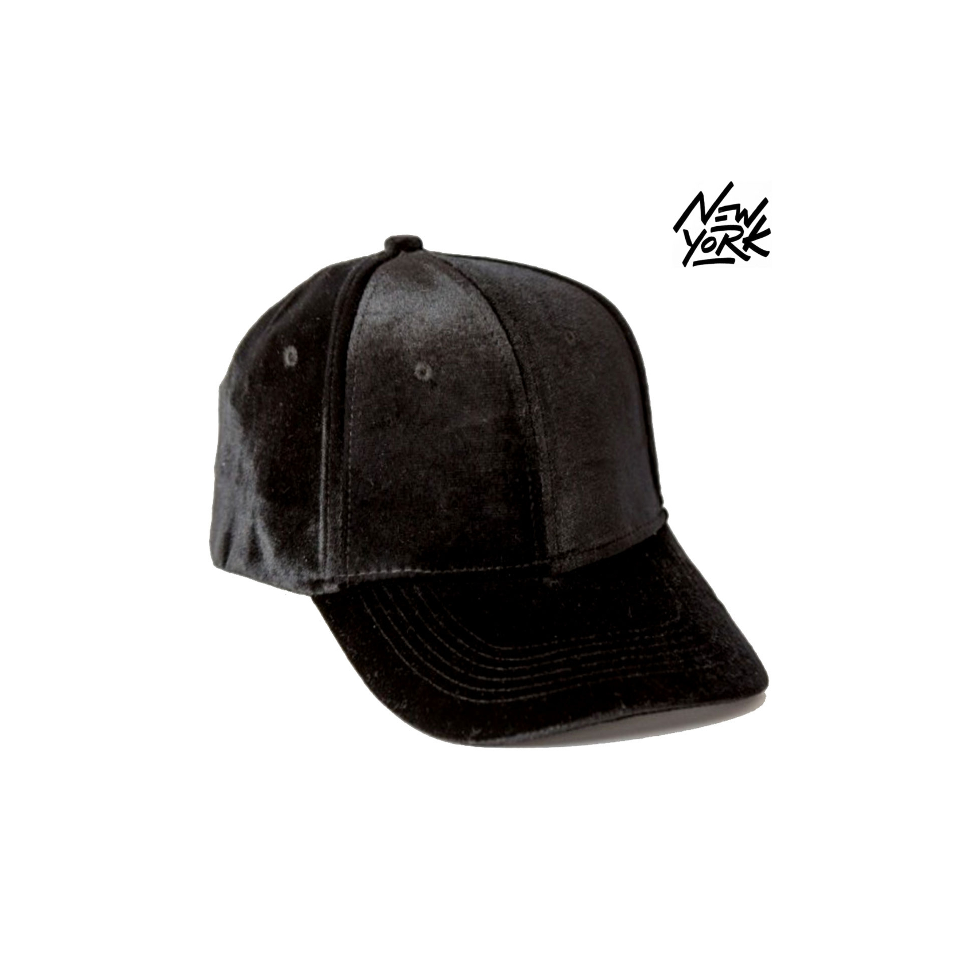 casquette baseball ny new york noir style velours velvet snapback. Black Bedroom Furniture Sets. Home Design Ideas