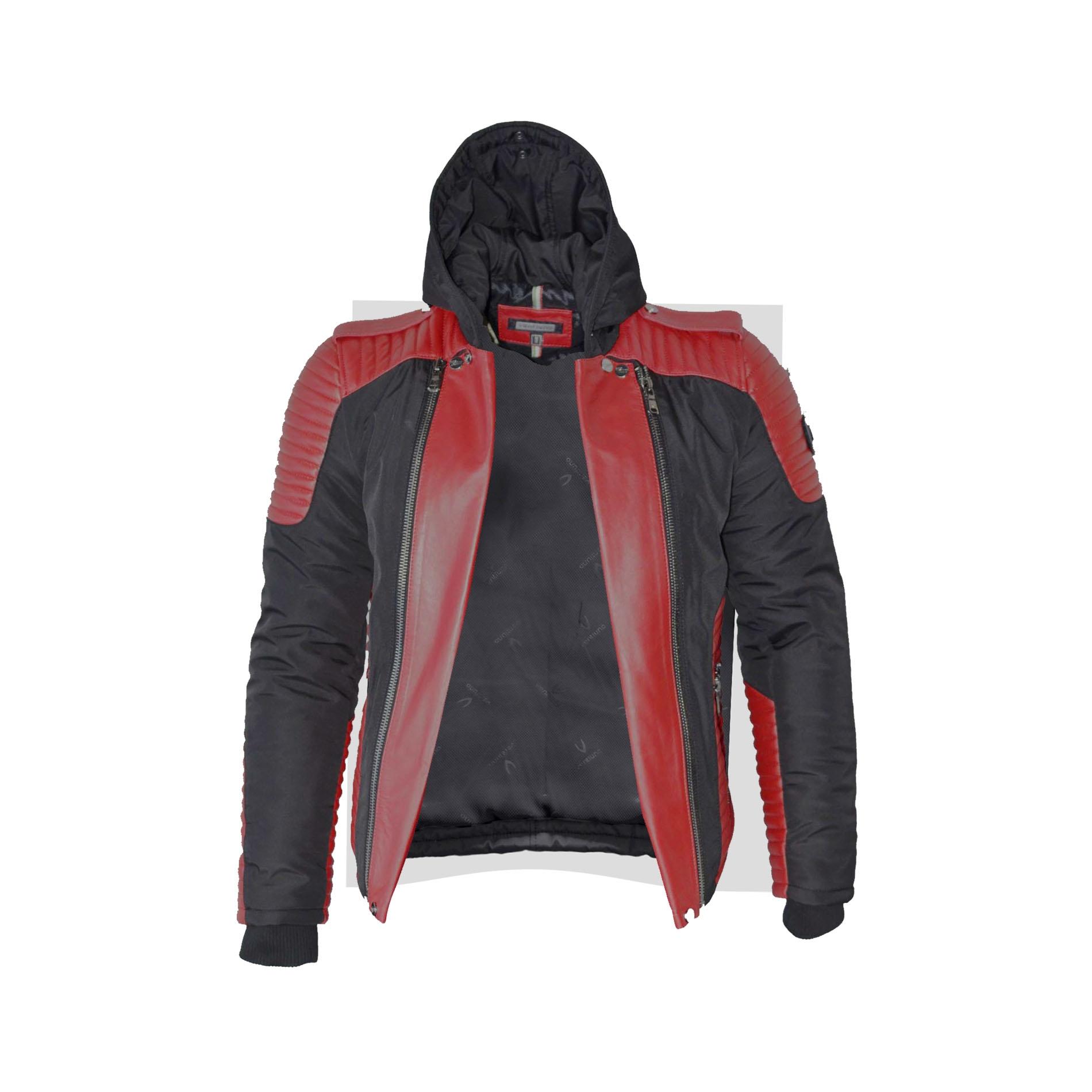 Ventiuno maserati veste doudoune bi mati re rouge fourrure v ritable rouge m ches blances taille - Meche rouge homme ...