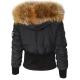 Altrov Veste TINA doudoune hiver femme noir ceiture cintré - Collection hiver 2017