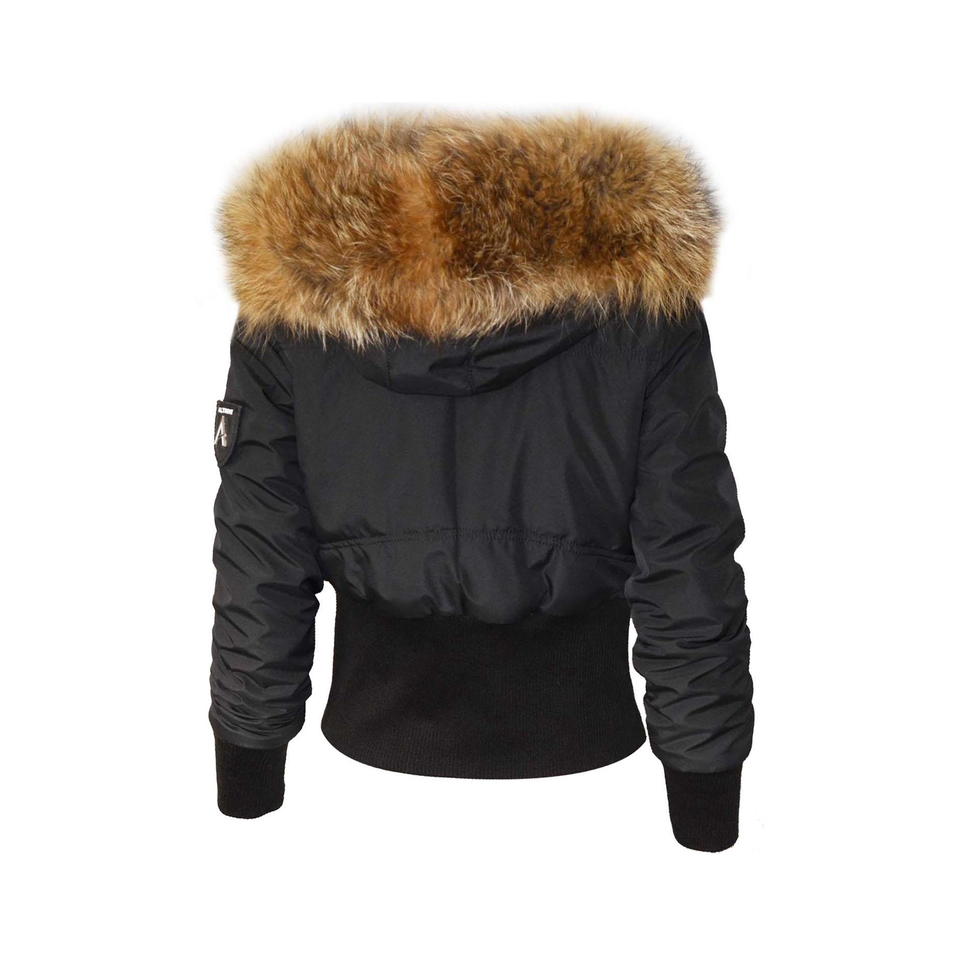 altrov veste tina doudoune hiver femme fourrure v ritable ceinture cintr collection hiver. Black Bedroom Furniture Sets. Home Design Ideas