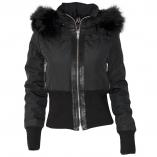 Altrov Veste TINA doudoune hiver femme fourrure noir véritable ceinture cintré - Collection hiver 2017