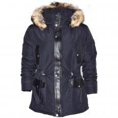 Altrov Veste DAREN bleu doudoune fourrure véritable homme 3/4 long - Collection hiver 2017
