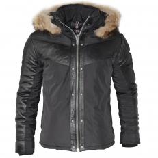 Altrov Veste FURRAL doudoune fourrure véritable et cuir veritable - Collection hiver 2017