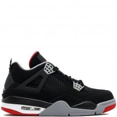 Nike Air Jordan 4 Retro BRED 308497-089 Black/Cement Grey-Fire Red
