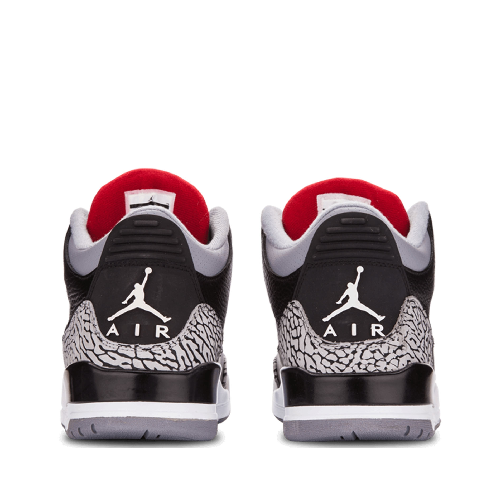 Nike Air Jordan 3 Retro III BLACK CEMENT 136064-010 black/varsity red-cement grey - Air Jordan 100% authentique xBiaY