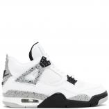 """Nike Air Jordan 4 Retro WHITE CEMENT """"NIKE AIR EDITION"""" 840606-192 White/Fire Red/Black/Tech Grey"""