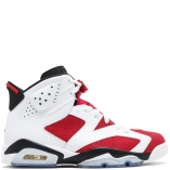 Nike Air Jordan 6 Retro VI CARMINE 384664-160 White Carmin/Black/Red