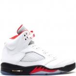 Nike Air Jordan 5 Retro V FIRE RED 136027-100 White/Black/Fire Red