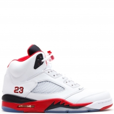 Nike Air Jordan 5 Retro V 136027-120 FIRE RED 23 white/fire red-black