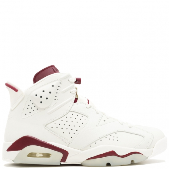 02a84a70177 ... authentic nike air jordan 6 retro vi maroon og 384664 116 off white new  maroon ee707