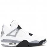 Nike Air Jordan 4 Retro IV WHITE CEMENT 308497-103 White/Fire Red/Black/Tech Grey