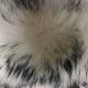 Ventiuno Col GROSSE fourrure veritable 17 cm argenté