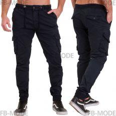 Pantalon cargo Unitif D01 gabardine épais slim-fit bleu