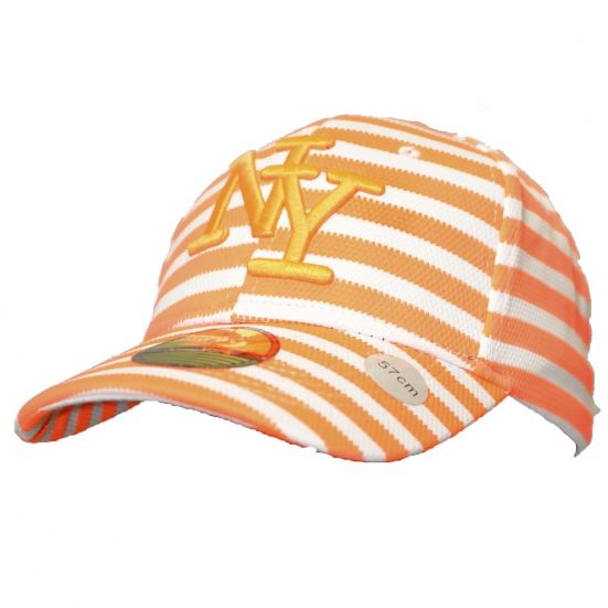 recherche de véritables chaussures d'automne la qualité d'abord Casquette Baseball logo NY New York fluo neon orange knitted en coton  canvas snapback Tendance été 2017