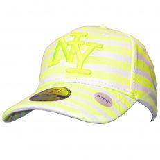 Casquette Baseball logo NY New York fluo neon jaune knitted en coton canvas snapback Tendance été 2017