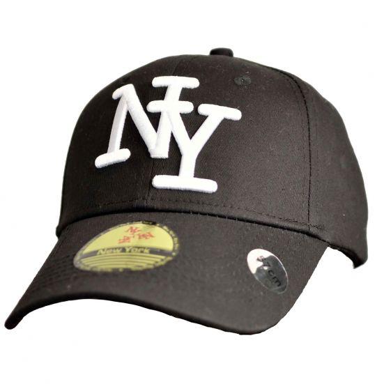 891a78a5f09d casquette-baseball-logo-ny-new-york -noir-knitted-en-coton-canvas-snapback.jpg