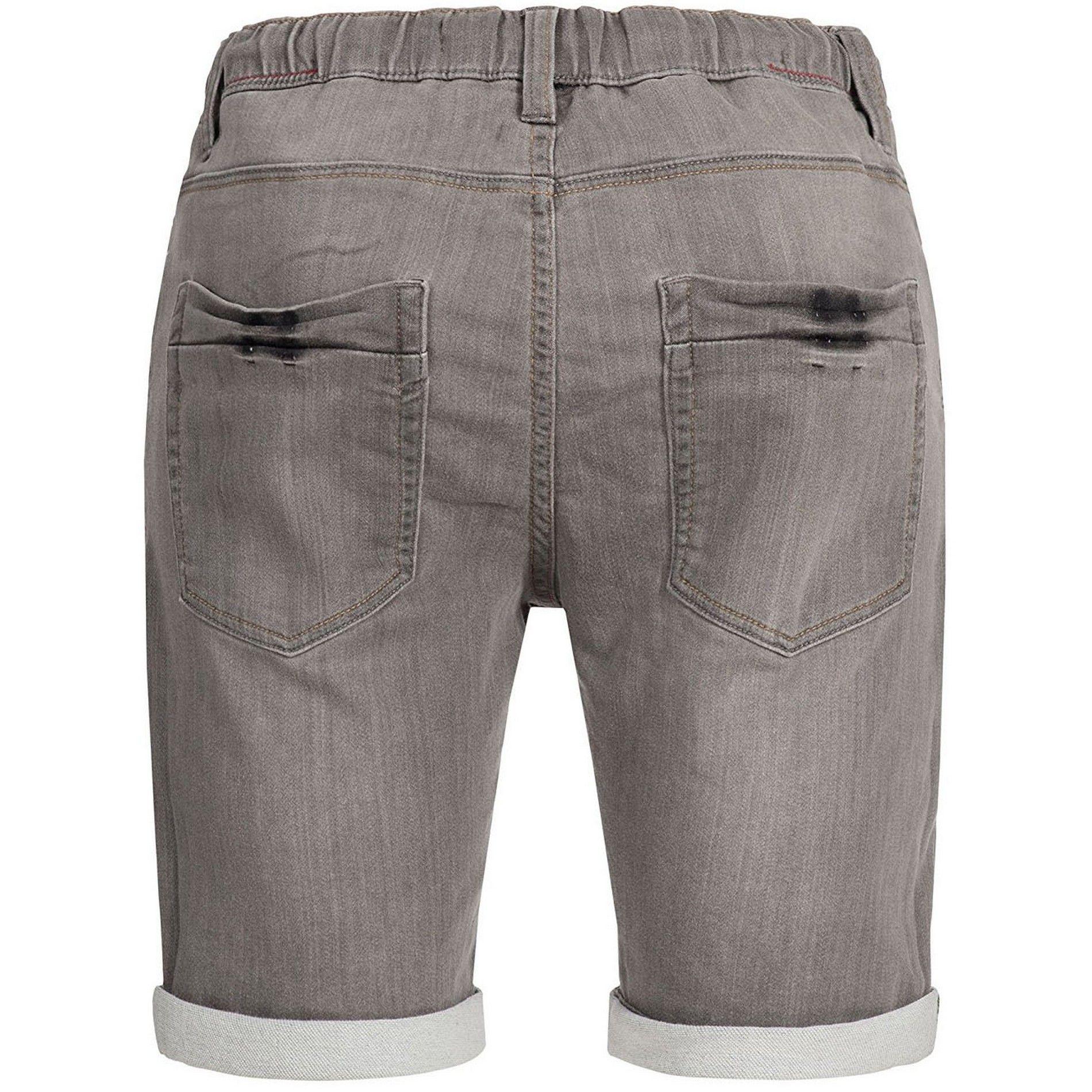 e902b88c10 KADIN Indicode short en jeans gris fume stretch - Livraison OFFERTE en  France Metropolitaine.