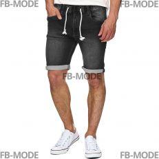 KADIN Indicode short en jeans noir fumé stretch