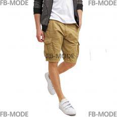 MONROE Indicode shorts noir cargo gabardine coton ceinture inclut