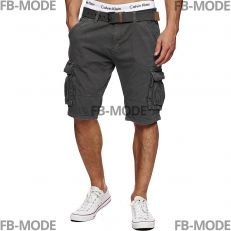 MONROE Indicode shorts gris cargo gabardine coton ceinture inclut