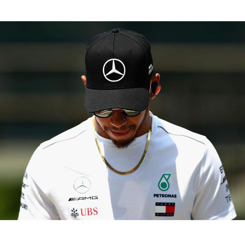 Lewis Amg Noir Hamilton Team Casquette Mercedes Puma F1 Baseball nHxgx1zX