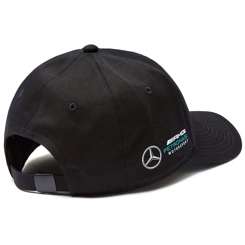Mercedes AMG F1 Team Puma Baseball Casquette Noir Officiel 2018