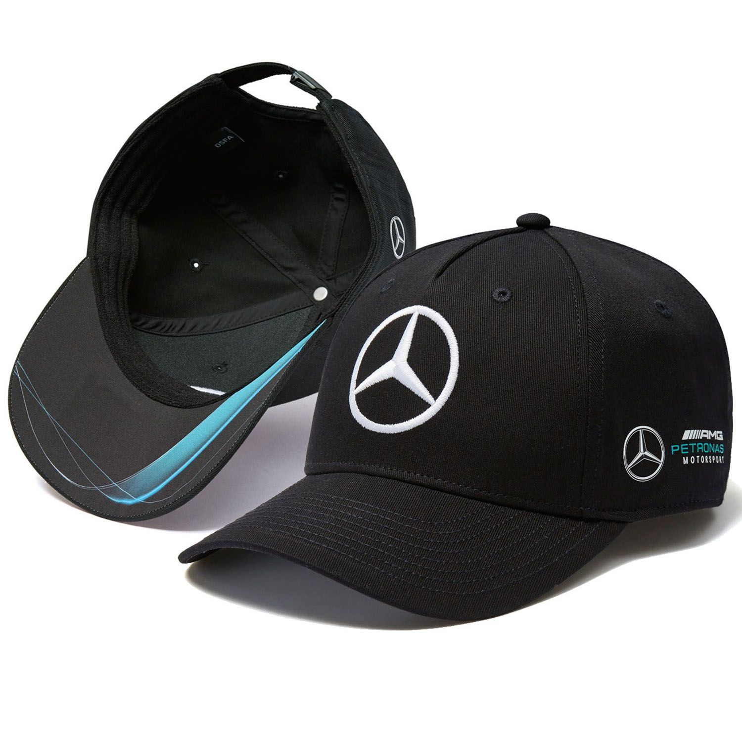 mercedes amg f1 team puma casquette noir baseball. Black Bedroom Furniture Sets. Home Design Ideas