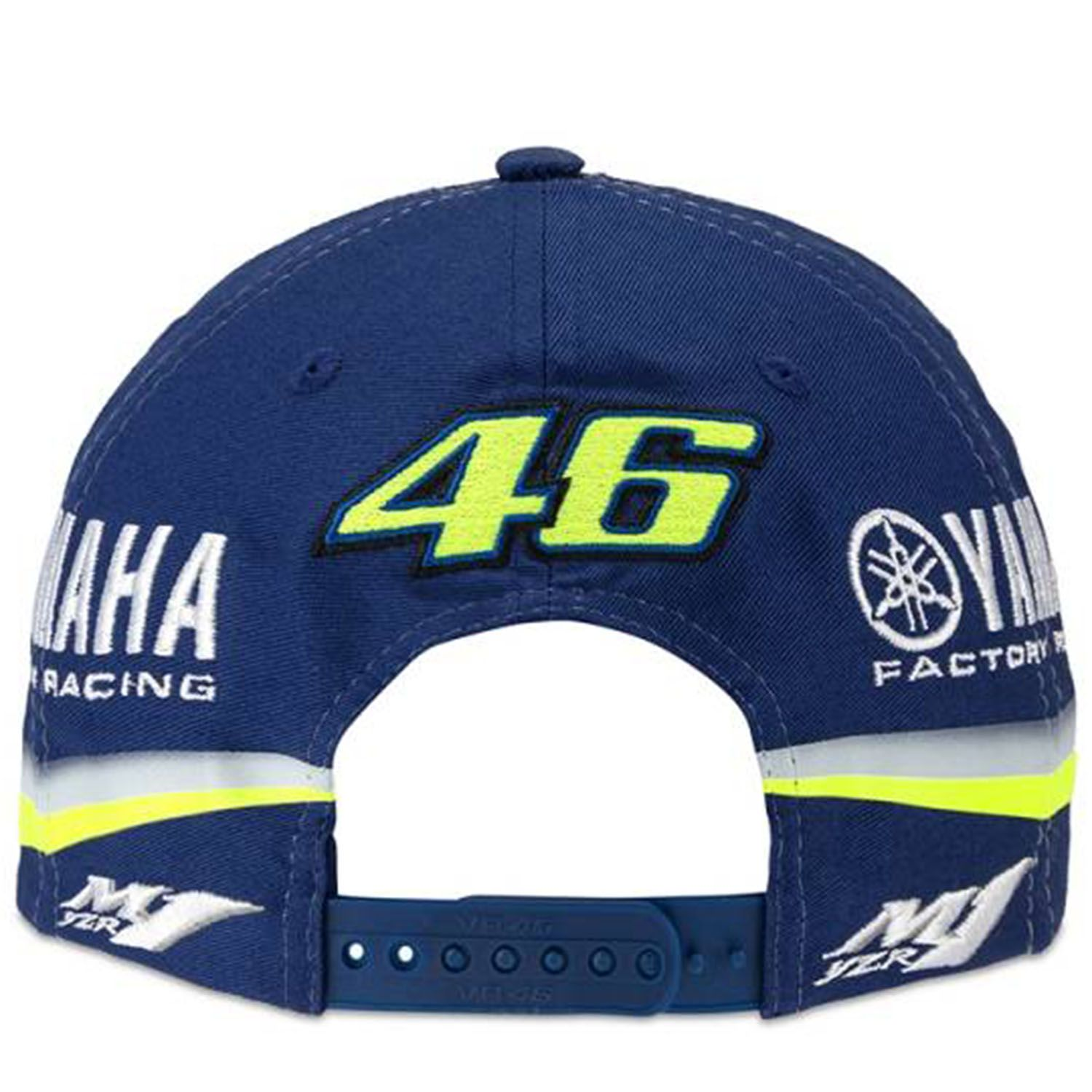 valentino rossi casquette vr46 moto gp m1 yamaha factory racing team ydmca313609 officiel 2018. Black Bedroom Furniture Sets. Home Design Ideas