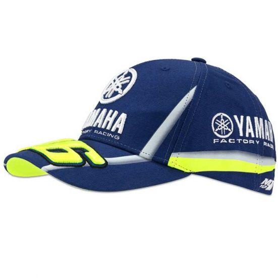 valentino rossi casquette vr46 moto gp m1 yamaha factory racing team ydmca313609 officiel 2018. Black Bedroom Furniture Sets. Home Design Ideas