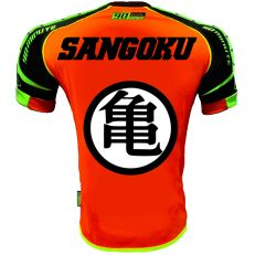Maillot Thailande orange rond blanc flocage dos model 2