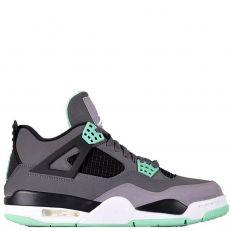 Nike Air Jordan 4 Retro IV GREEN GLOW 308497-033 Dark Grey/Green Glow/Cement Black