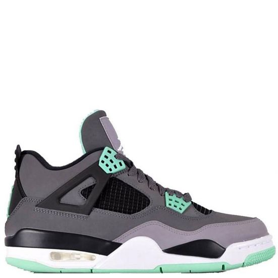 Nike Air Jordan 4 Retro IV GREEN GLOW 308497-033 Dark Grey/Green Glow/Cement Black