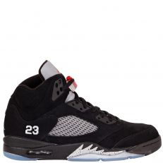 Nike Air Jordan 5 Retro V METALLIC SILVER 136027-010 black/varsity red-mtllc silver