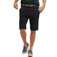 ROYCE Indicode shorts noir gabardine coton avec ceinture inclut