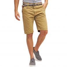 ROYCE Indicode shorts gabardine coton avec ceinture inclut ambre desert